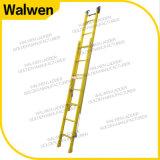 Isoleerde de Groothandelsprijs FRP van de fabriek volledig de Ladder van de Uitbreiding van de Glasvezel met Haak