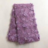La moda hecha a mano tejido de encaje para fiestas