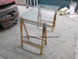 ステンレス鋼の金フレームのダイニングテーブル