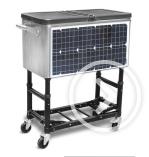 Patio-Kühlvorrichtung der Sonnenenergie-60qt mit den gefalteten Beinen
