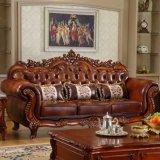 居間の家具(619)のための贅沢な革ソファー