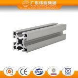 El aluminio industrial del uso de la ranura de T sacó perfil
