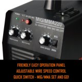 MIG/MMA 200 Amp Inversor portáteis máquina de solda MIG IGBT