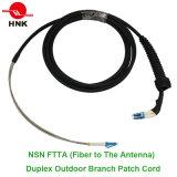 Cordon de connexion extérieur duplex de branchement de NNO Ftta