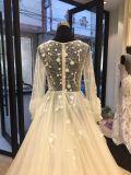 Длинняя втулка отбортовывая мантию венчания платья Brdial вечера выпускного вечера шарика