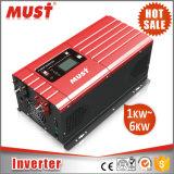 Doit être fonction de démarrage à froid 6kw d'onde sinusoïdale pure 40-80 Hz Inverter solaire