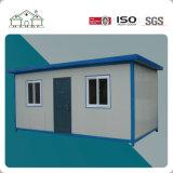オフィスのための青い鉄骨構造のプレハブモジュラー平らなパッキング容器の家
