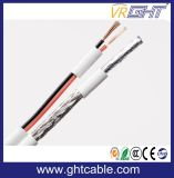 75 Ohm 0.81mm PVC branco CCS cabo coaxial RG6