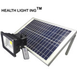 LED 태양 플러드 빛, 정원, 안뜰, 야드, 수영장, 동갈치를 위한 옥외 안전 벽 빛 LED 방수 태양 먼 통제되는 스포트라이트
