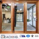 Раздвижная дверь деревянного электрофореза цвета алюминиевая с прокатанным стеклом