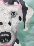 Картина холстины симпатичного искусствоа стены картины маслом собаки животная для домашнего декора