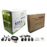 4 sistema sin hilos del CCTV de la cámara del IP del punto negro del kit 960p del canal HD NVR