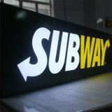 Custom Outdoor grand signe acrylique panneaux LED boîte à lumière