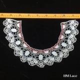 42*27cm coloriu a colar do Applique do Neckline do laço do estilo do Crochet de Veneza do algodão que Wedding o estilo antigo nupcial Oc Hm2043
