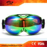 Lunettes antibrouillard de neige de lentille de ski de surf sur neige d'oeil de protecteur de lentille détachable de double