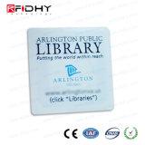 ライブラリのための書き込み可能で、読解可能なPVC RFID象眼細工