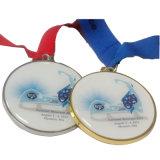 Medaille van de Vorm van het Hart van de douane de Metaal Afgedrukte voor Gebeurtenis