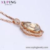 43150 Fashion de acero inoxidable chapado en oro rosa Collar de bloqueo de joyería