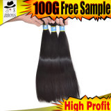 prolonge de cheveu de 10A Remy, cheveux humains de Vierge brésilienne