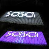 Panneau acrylique polychrome de l'Afficheur LED DEL et lumière extérieure de DEL