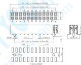 Nieuw Product 2.0 Schakelaar SMT 2*82p van de fabriek van de Kopbal van de Rijen van het Type van U van de Hoogte de Dubbele Vrouwelijke
