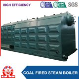 Double chaudière à eau chaude industrielle allumée de tambour par charbon horizontal