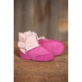La mode des chaussures de la peau de mouton bébé Fille en rose/rouge