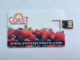 4GB personalizado palillo de la tarjeta de crédito plano y plástico de 8 GB del USB del flash del mecanismo impulsor de la memoria