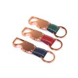Coloridos accesorios de la marca de metal llavero de cuero