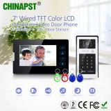 Neueste Farben-Video Doorphone Wechselsprechanlage mit Identifikation-Karte u. Kennwort (PST-VD07T-IDS)