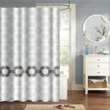 Eco-Friendly Custom Bathroom Shower Curtain with Rotary drill Printing Design