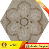 Qualitäts-rustikale keramische Hexagon-Ausgangsdekor-Bodenbelag-Fliese (23607)