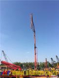 Isuzu의 간접적인 구체 펌프는 사용했다 트럭 거치한 구체적인 붐 펌프 (37M 42M 46M 48M)를