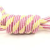 Welpen-Hundehaustier-Spielzeug-natürliches Baumwolllappen-Knoten-Seil