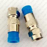 Rg59 type connecteur coaxial du câble F de compactage