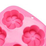 Molde material del silicón de la categoría alimenticia del certificado del nuevo producto FDA, molde formado flor de /Chocolate del molde del pudín del silicón 6PCS