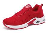 Flyknit Rot für Dame-Schuhe mit Luftpolster-Turnschuh-laufenden Schuhen