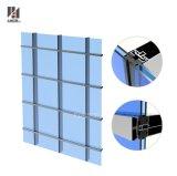 Morden comercial que construye la pared de cortina de cristal del marco de aluminio exterior