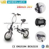 CER 16-Inch eine Sekunde elektrisches Fahrrad faltend