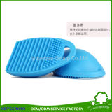 L'épierreuse cosmétique de balai d'oeufs de balai d'oeufs de nettoyage de silicones composent le nettoyeur à brosse