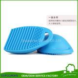 Ovos de limpeza de silicone ovo da escova de limpeza da escova de cosméticos compõem o limpador da escova