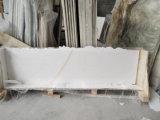 Het witte Marmeren Zuivere Witte Marmeren Marmer van de Ader Goldn