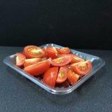 Rectangular desechables de plástico barato de la bandeja de fruta fresca