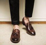 Gamuza negro charol Borla Mens zapatos moda casual