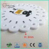Qualität runde PS-weiße strickende Nadel-Plastikanzeigeinstrumente