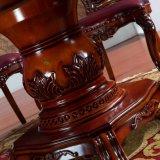 Table en bois avec canapé en cuir Président pour meubles de salle à manger