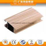 Surface en bois des graines du profil en aluminium d'extrusion pour le guichet