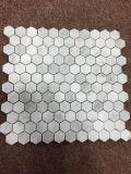 Плитка мозаики Bianco белая Carrara мраморный