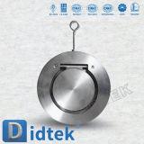 A qualidade de confiança CF8m de Didtek escolhe a válvula de verificação da bolacha da placa