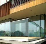 Pasamano de cristal de Frameless de la escalera del acero inoxidable de la alameda de compras de la seguridad